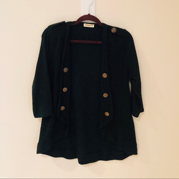 Ginger G Sweaters - Black & gold button sweater